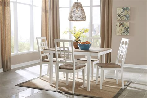 brovada dining table  chairs  ashley  gardner white