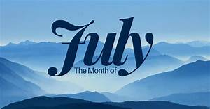 July – seventh month of the year