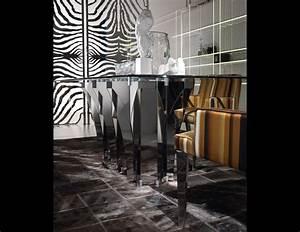 Roberto Cavalli Home : nella vetrina soho roberto cavalli home modern luxury italian dining table in glass top and ~ Sanjose-hotels-ca.com Haus und Dekorationen