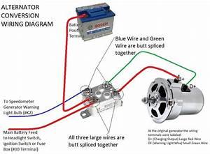 Vw Alternator Conversion Kit  With Al82 Alternator  Vw