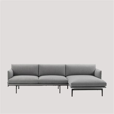 chaise muuto nordicthink outline sofa chaise muuto