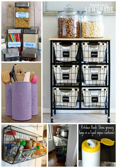 genius kitchen storage hacks ideas making lemonade