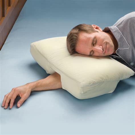 The Arm Sleeper's Pillow  Hammacher Schlemmer