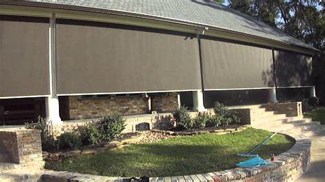 patio screen houston motorized patio shades houston