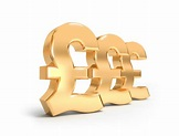 Golden Pound Sterling Signs Stock Photo - Download Image ...