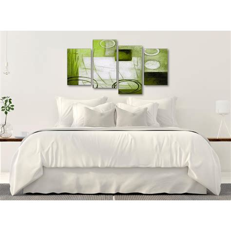 large lime green painting abstract bedroom canvas pictures