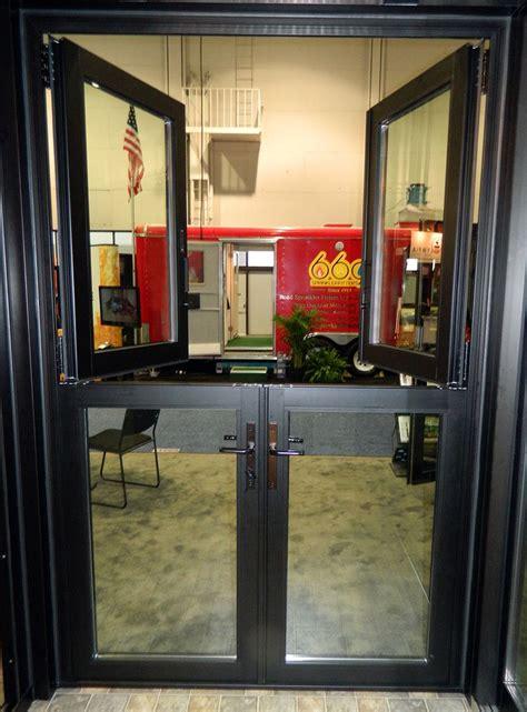 glass dutch door consists   glass infill