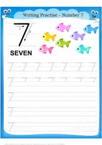 Number 7 Handwriting Practice Worksheet  Free Printable Puzzle Games