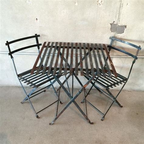 antique wrought iron patio table and chairs urbanamericana