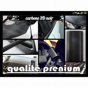 Covering Carbone 3m : vinyle carbone noir film covering thermoformable adhesif ~ Voncanada.com Idées de Décoration
