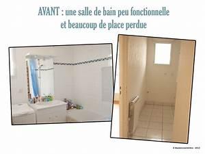 Renovation Mur Salle De Bain : avant apr s r novation d 39 une salle de bain mademoiselle d co blog d co ~ Preciouscoupons.com Idées de Décoration