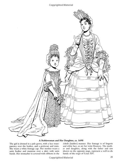 preschool dover de baroque and rococo fashions dover fashion coloring 652