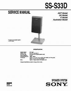 Sony Chc-p33d  Ss-s33d Service Manual