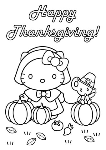 hello pictures to color hello happy thanksgiving coloring page free
