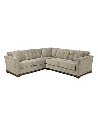 Macys Elliot Sofa by Elliot Fabric Microfiber Sectional Sofa 2 108 Quot W X