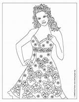 Coloring Pages Printable Dresses Adult Clothes Floral Books Colouring Bing Clipart Library Adults Sheets Models Barbie Popular Pretty Coloringhome Getcoloringpages sketch template