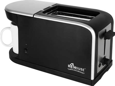 Bread Toaster Price by Buy Bread Toaster With Coffee Maker He 1562 Black