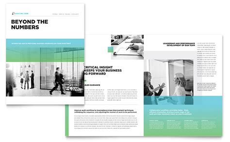 Pages Template Brochure Auditing Firm Brochure Template Design