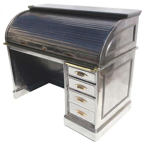 metal roll top desk polished steel roll top desk at 1stdibs