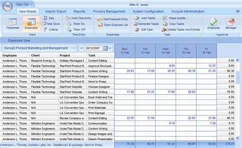 expense tracker software microsoft excel template