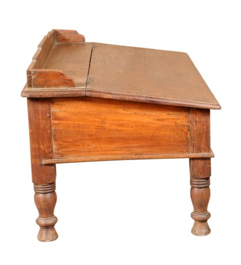 rangilo rajasthan antique mango wood writing desk in colonial maple finish by mudramark by