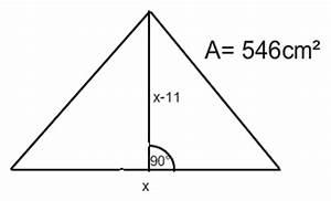 Nullstellen Berechnen Pq Formel : dreieck formel f r dreieck aufstellen so dass man unbekannte mit pq formel bestimmen kann ~ Themetempest.com Abrechnung