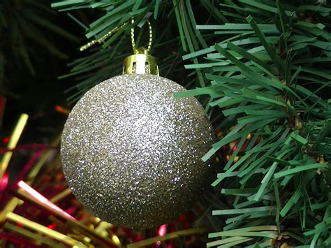 christmas tree bauble decoration free stock photo public