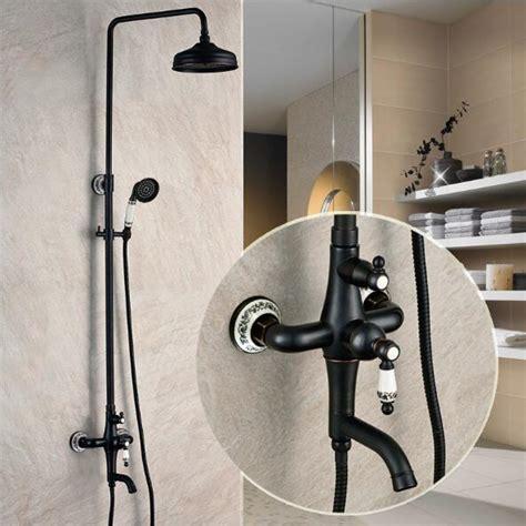 shipping luxury antique brass rainfall shower set