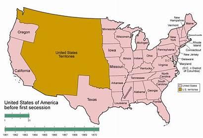 Civil War Map Missouri Timeline States Secession