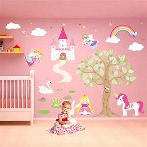 deluxe enchanted fairy princess nursery wall stickers With enchanting ideas decals for kids walls