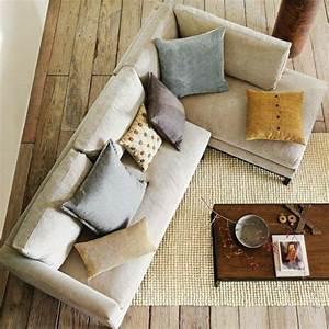 idee deco salon cocooning 3 coussin canape acheter un With tapis moderne avec refaire ses coussins de canapés