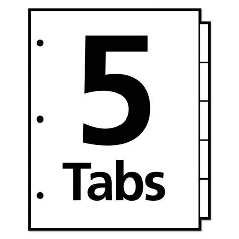 5 tab template microsoft word insertable big tab dividers 5 tab letter thegreenoffice