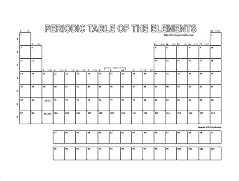 8+ Blank Table Templates