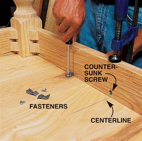 oak  poplar kitchen table  breadboard ends