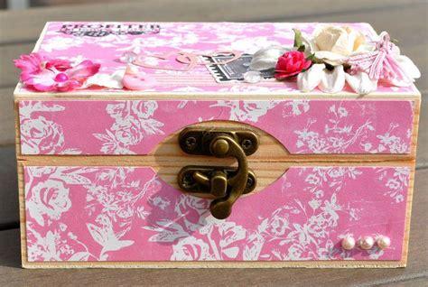 deco boite en home d 233 co boite en bois customis 233 e shabby le de la boutique la aux fleurs