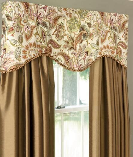 paisley jacobean lined scalloped valance country curtains dawns red   curtains