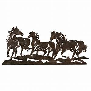 metal running horse wall art With horse wall art