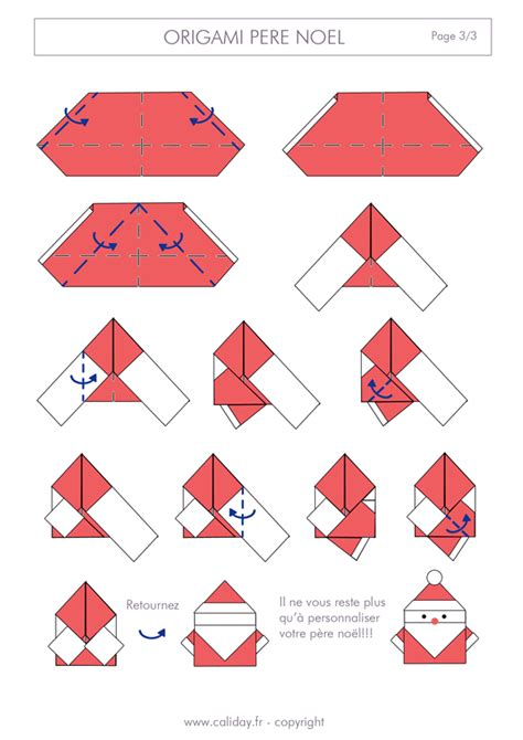 tutoriel origami pere noel origami p 232 re noel noel et origami noel
