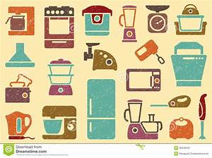 Seamless Background From Icons Of Kitchen Home App Stock ...