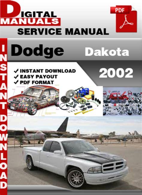 download car manuals 1997 dodge dakota navigation system dodge dakota 2002 factory service repair manual download manuals
