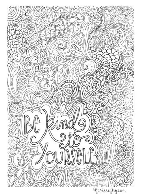 Coloring Quotes For Adults Printable by 12 Inspiring Quote Coloring Pages For Adults Free