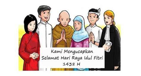 ucapan selamat hari raya idul fitri  unik terbaru kartun gambar agama