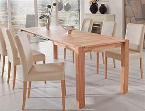 Hochwertiger Esstisch 140x80 Massivholz Tisch Ausziehbar