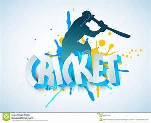 Cricket Sports Concept With Batsman And 3D Text. Stock ...