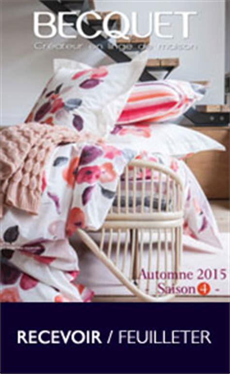 catalogue becquet textile de maison sur catalogue fr