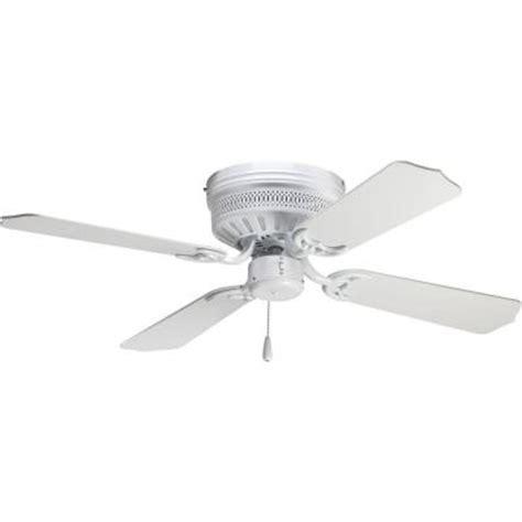 home depot hugger ceiling fans progress lighting airpro hugger 42 in white ceiling fan