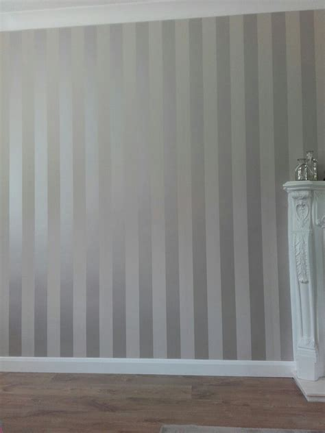 Striped Wallpaper Living Room Ideas by Truffle Stripe Wallpaper Living Room In