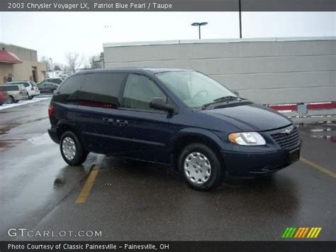 2003 Chrysler Voyager Lx by Patriot Blue Pearl 2003 Chrysler Voyager Lx Taupe