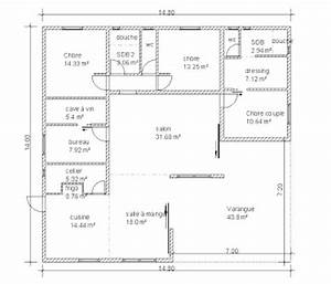 plan maison 90m2 plain pied With charming plan maison etage 100m2 10 plan de maison traditionnelle ligne traditionnelle