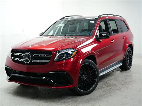 Its interior upgrades include ambient lighting, leather dashboard, special wood trim, and premium porcelain/expresso brown leather upholstery with stitched surfaces. New 2019 Mercedes-Benz GLS AMG® GLS 63 SUV SUV in ...